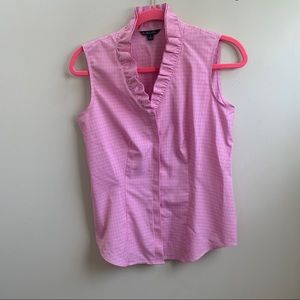 Brooks Brothers pink gingham ruffled top 4